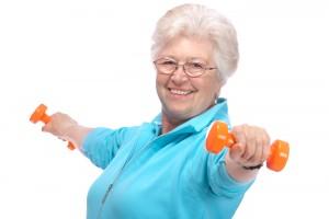 bigstock-Senior-Woman-Working-With-Weig-32020115