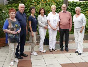 von links nach rechts: Erika Seipel, Ferdinand Kehnen, Regine Babel, Uschi Muckenheim, Hiltrud Kühnemann, Dieter Debus, Barbara Wertenbroch